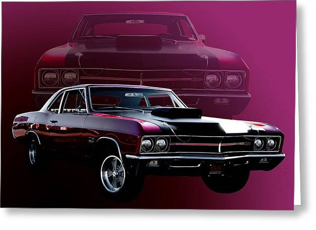 67 Buick Gs 400 Greeting Card