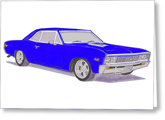 67 Ss Malibu  Greeting Card