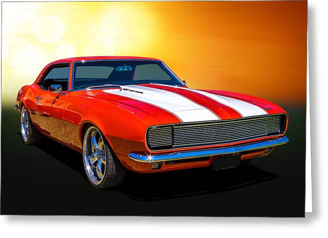 68 Camaro Greeting Card