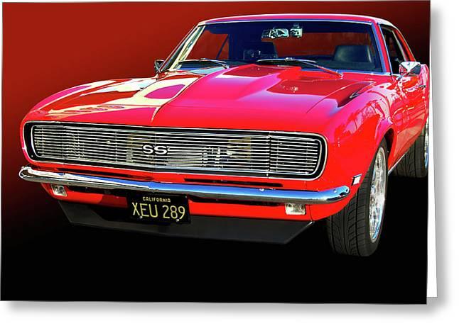 1968 Camaro Greeting Cards - 68 SS Camaro Greeting Card by Bill Dutting