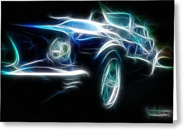 69 Mustang Mach 1 Fantasy Car Greeting Card by Paul Ward