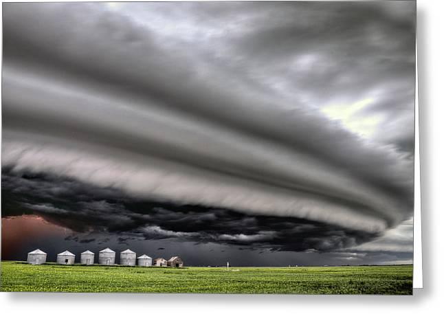 Storm Clouds Saskatchewan Greeting Card by Mark Duffy