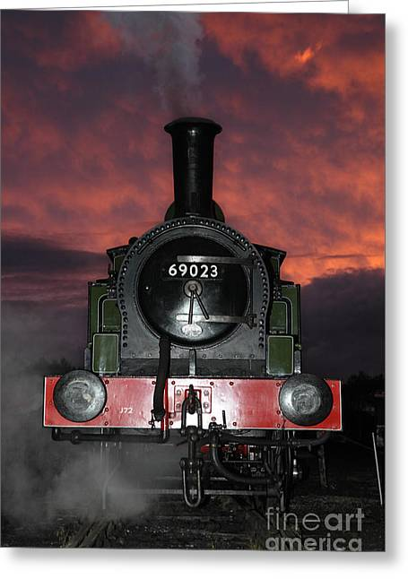 69023 Sunset Greeting Card by Bryan Attewell