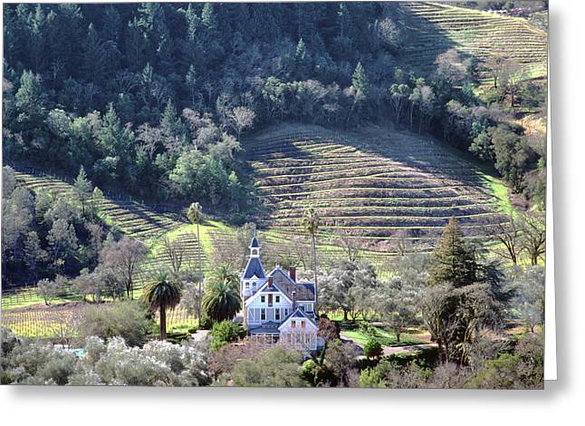 6b6312 Falcon Crest Winery Grounds Greeting Card