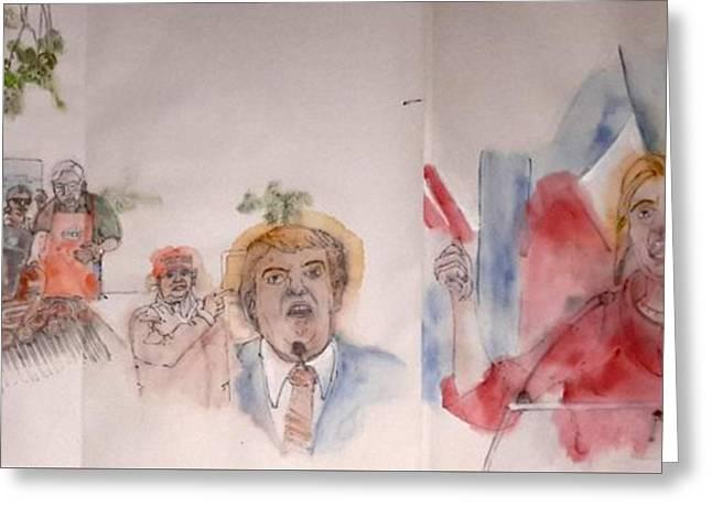2016 Presidential Campaign  Album  Greeting Card by Debbi Saccomanno Chan