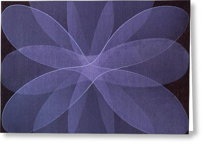 Abstract Flower  Greeting Card by Jitka Anlaufova
