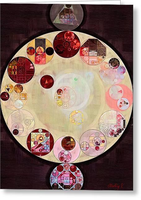 Abstract Painting - Seal Brown Greeting Card by Vitaliy Gladkiy