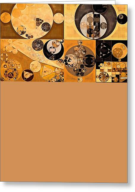 Abstract Painting - Coffee With Milk Greeting Card