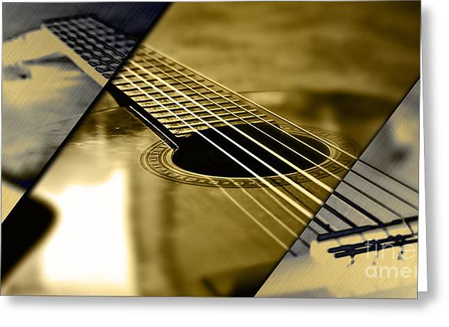 Acoustic Guitar Collection Greeting Card