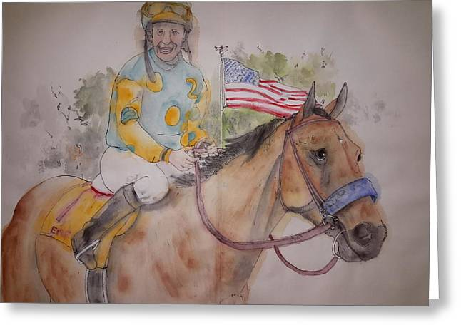 American Pharaoh Album  Greeting Card by Debbi Saccomanno Chan