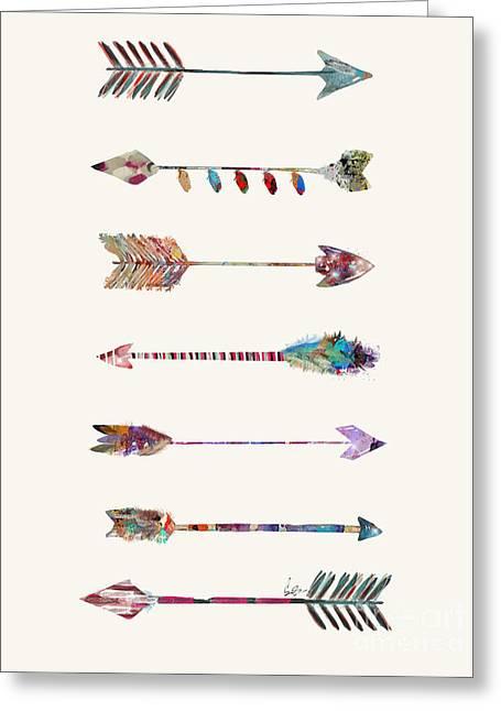 7 Arrows Greeting Card