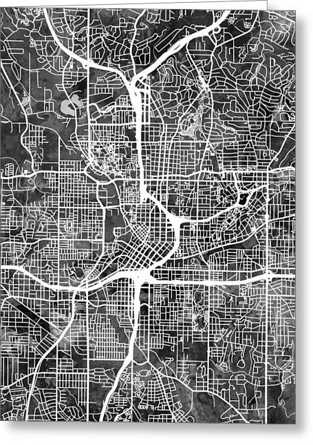 Atlanta Georgia City Map Greeting Card