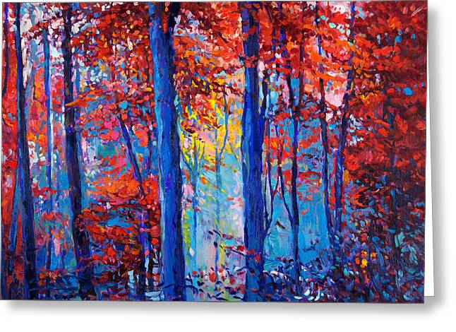 Autumn Landscape By Ivailo Nikolov Greeting Card by Boyan Dimitrov