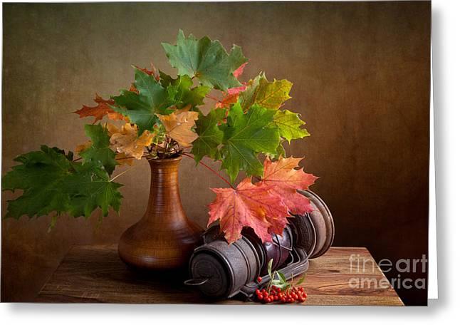 Autumn Greeting Card by Nailia Schwarz