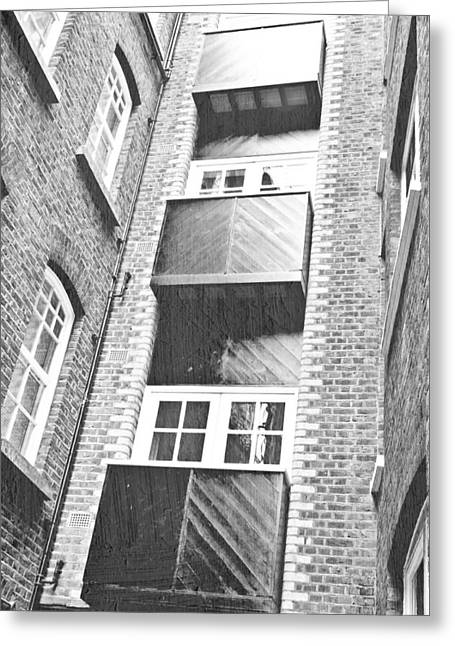 Balconies Greeting Card by Tom Gowanlock