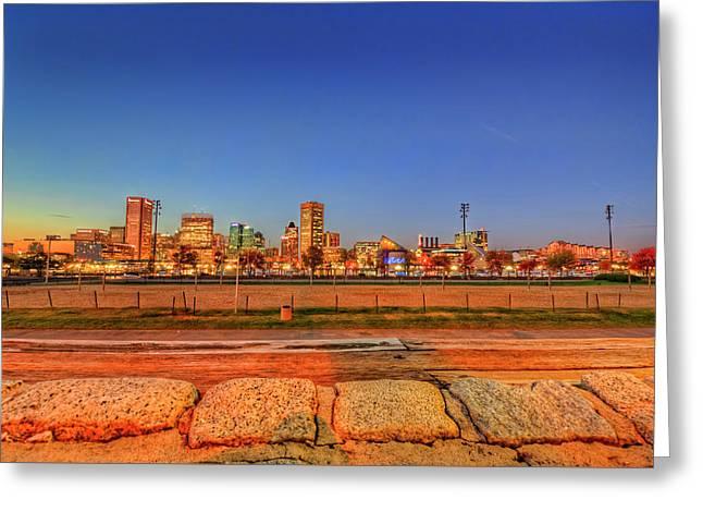 Baltimore Inner Harbor Sunset Greeting Card