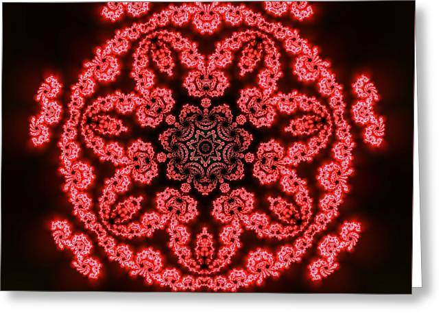 7 Beats Fractal Greeting Card