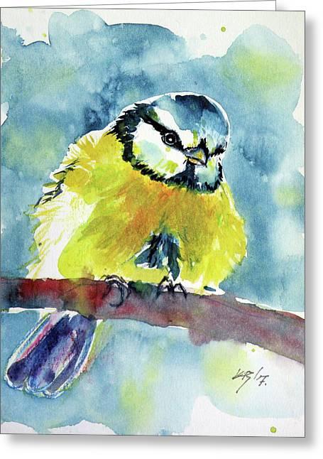 Bird Greeting Card by Kovacs Anna Brigitta