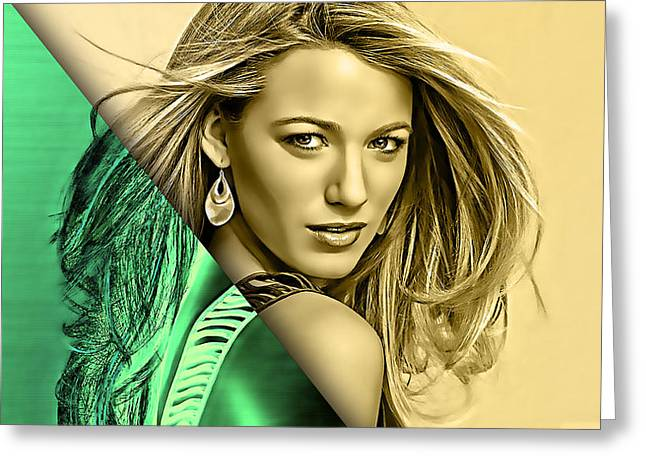 Blake Lively Collection Greeting Card by Marvin Blaine