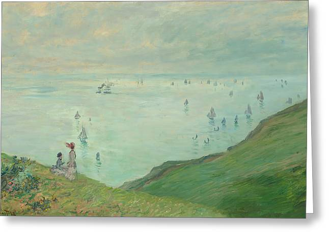 Cliffs At Pourville Greeting Card
