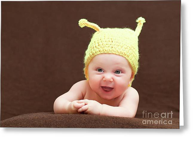 Cute Newborn Portrait Greeting Card