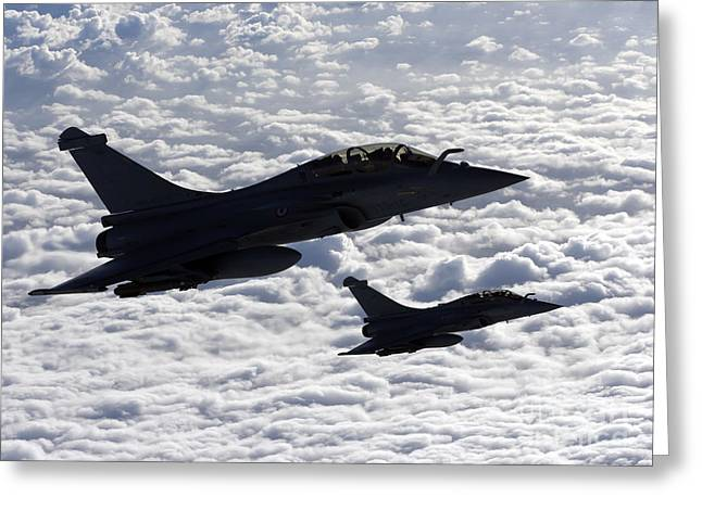 Jet Greeting Cards - Dassault Rafale B Of The French Air Greeting Card by Gert Kromhout