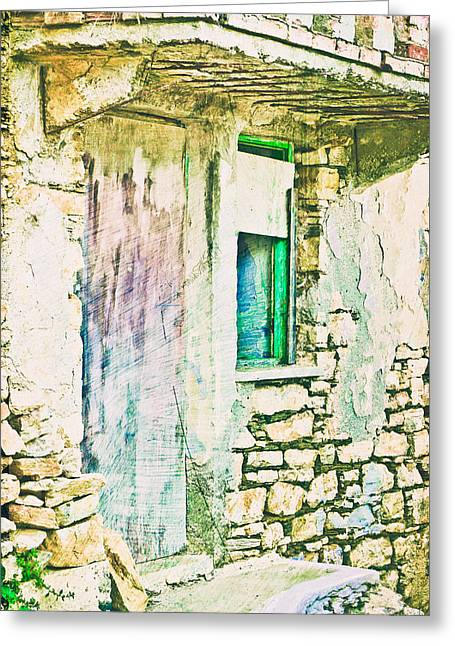 Derelict House Greeting Card