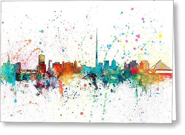 Dublin Ireland Skyline Greeting Card