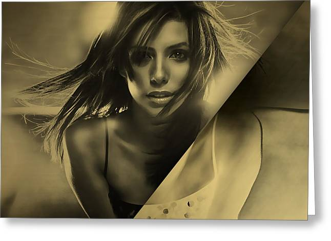 Eva Longoria Collection Greeting Card by Marvin Blaine