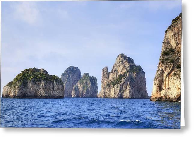 Faraglioni - Capri Greeting Card by Joana Kruse