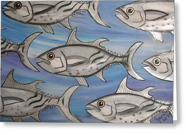 7 Fish Greeting Card