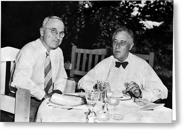 Vice Presidents Greeting Cards - Franklin D. Roosevelt Greeting Card by Granger