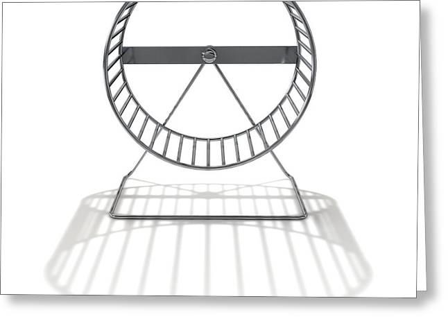 Hamster Wheel Empty Greeting Card by Allan Swart