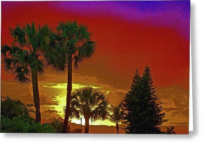 Greeting Card featuring the digital art 7- Holiday by Joseph Keane