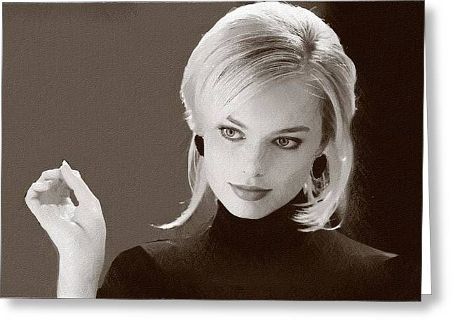 Hollywood Star Margot Robbie Greeting Card by Best Actors