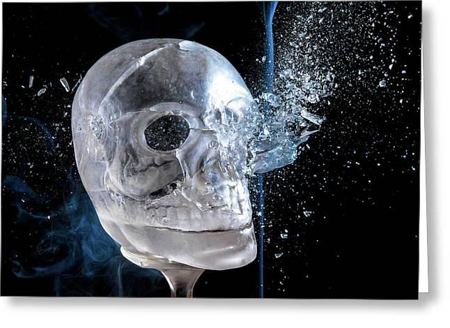 Ice Skullpture Greeting Card