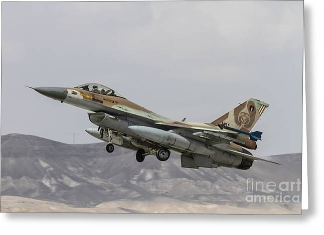 Idf/af F-16c Barak - Blue Flag 2017 Greeting Card