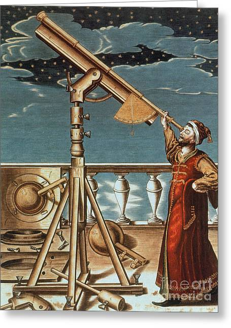 Johannes Hevelius Polish Astronomer Greeting Card by Science Source