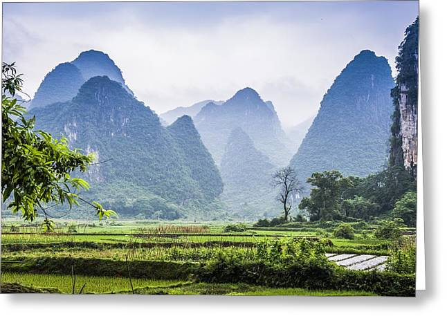 Karst Rural Scenery In Spring Greeting Card