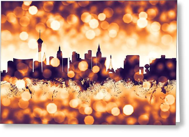 Las Vegas Nevada Skyline Greeting Card
