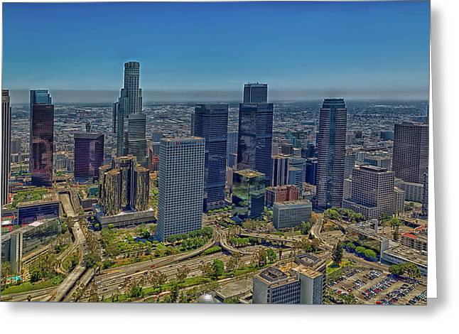 Los Angeles Greeting Card by Mountain Dreams