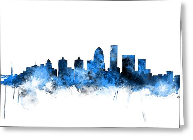 Louisville Kentucky City Skyline Greeting Card