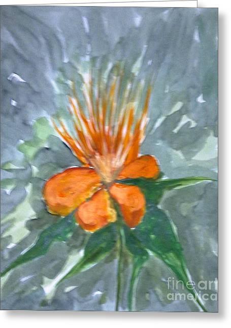 Love Flowers Greeting Card by Baljitchadha