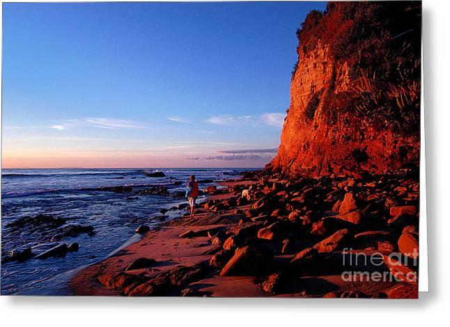 Malibu Sunrise Greeting Card by Marc Bittan