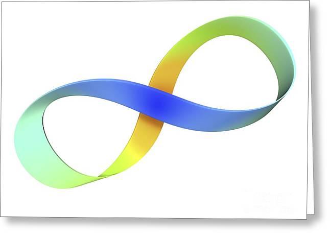 Mobius Strip, Computer Artwork Greeting Card