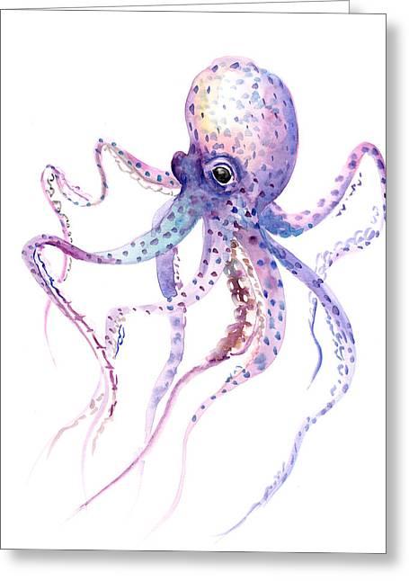 Octopus Greeting Card by Suren Nersisyan