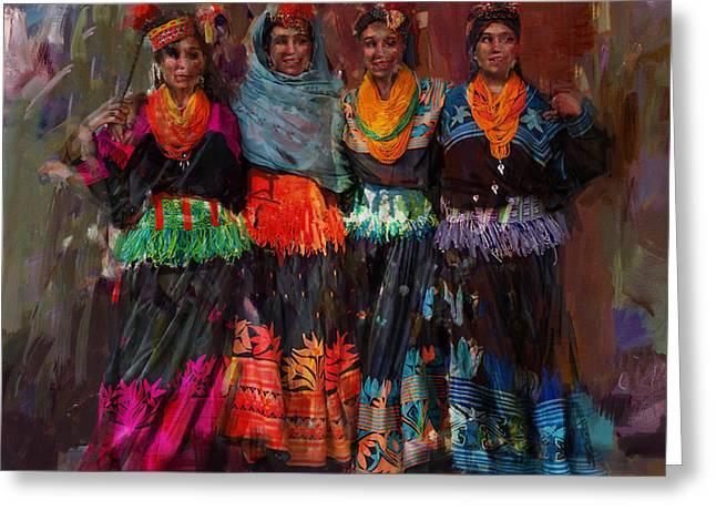 7-pakistan Folk Chitraal Greeting Card