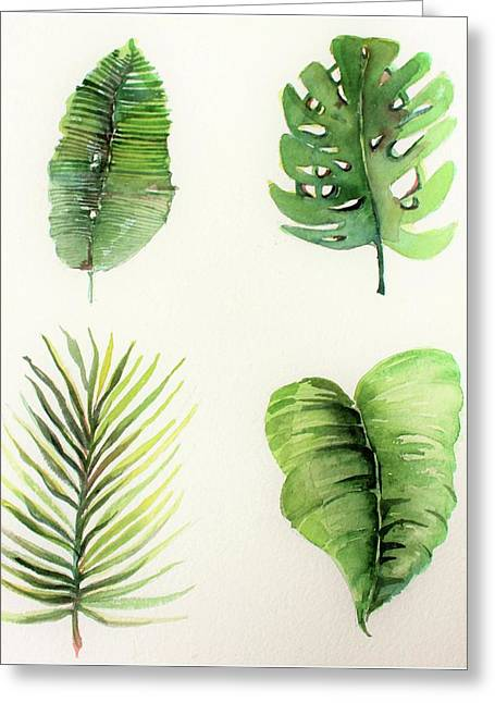 Palms Greeting Card by Mindy Newman