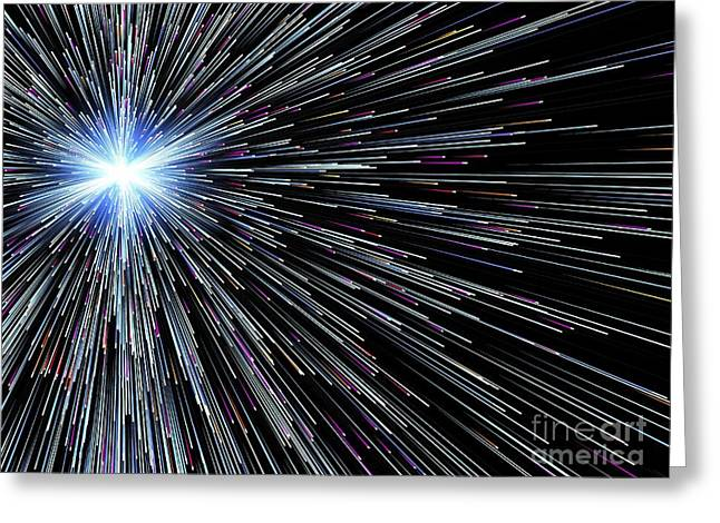 Particle Rays, Artwork Greeting Card
