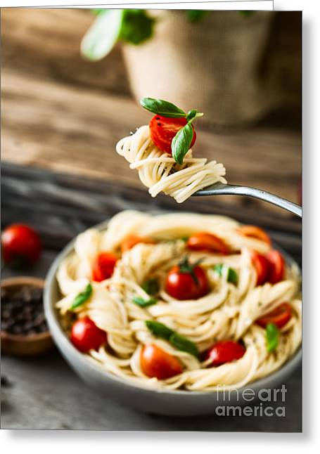 Pasta With Olive Oil  Greeting Card